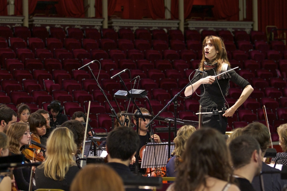 Imogen Heap at the Royal Alber Hall for the rehearsals of Premier of Love the Earth