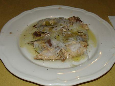 sardines and onions