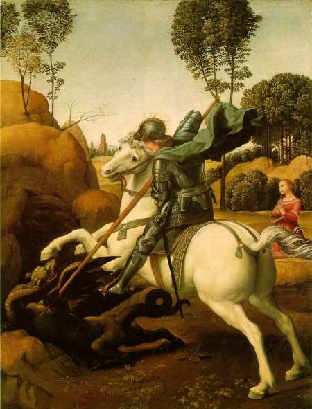 Saint George and the Dragon - Raphael