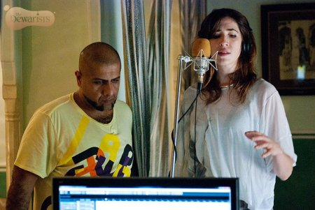 Vishal Dadlani and Imogen Heap recording Minds Without Fear