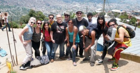 The Caracas crew in the barrio - Andrew Dubber
