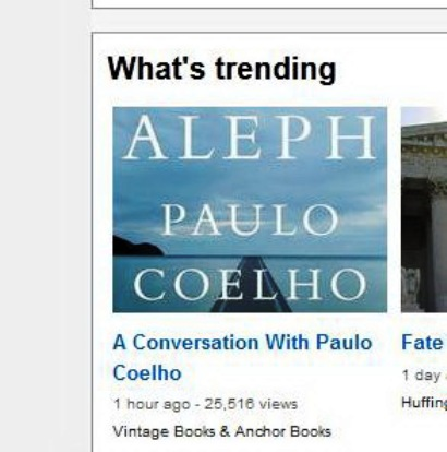 A conversation with Paulo Coelho trending ...