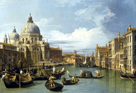 The Grand Canal and the Church of the Salute -- Canaletto
