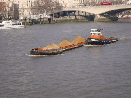 working boats on The Thames