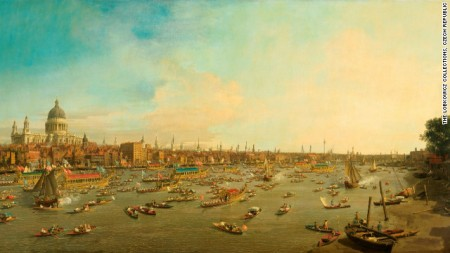London The Thames on Lord Mayor's Day - Canaletto