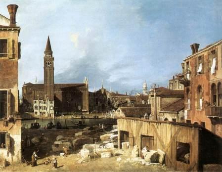The Stonemason's Yard -- Canaletto