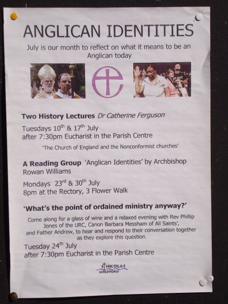 Anglican Identities: A series of talks at St Nicolas