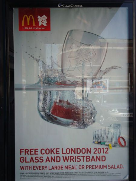 McDonald's Official Olympic Restaurant promo Coca-Cola