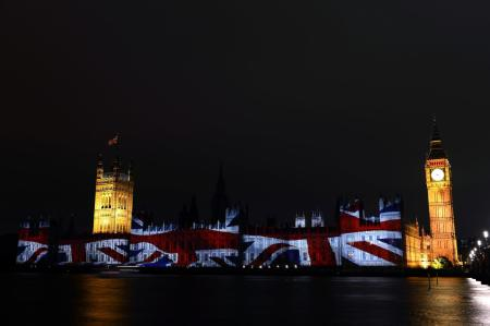 Team GB projected onto Parliament