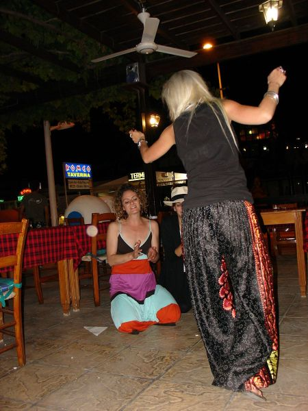 dancing to Greek music