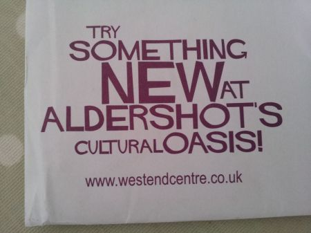 West End Centre cultural oasis in the cultural wasteland of Aldershot