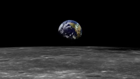Earth seen from the Moon - Neil Armstrong RIP