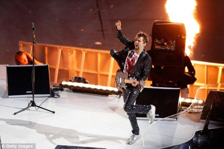 London 2012 Matt Bellamy of Muse