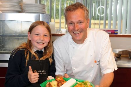 NeverSeconds Martha and celeb Chef Nick Cairn