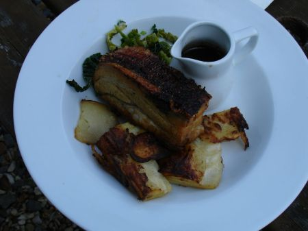 The Foresters slow-roast belly of pork