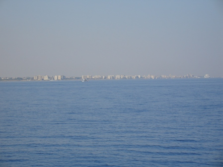 Famagusta seen from afar