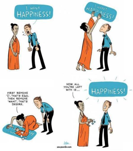 I want happiness
