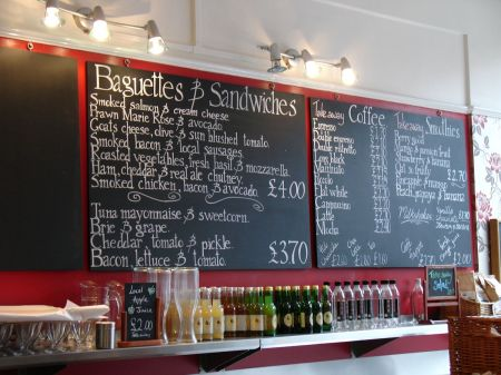 baguettes & sandwiches, tea, coffee & smoothies