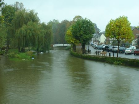 view of River Wey from restaurant