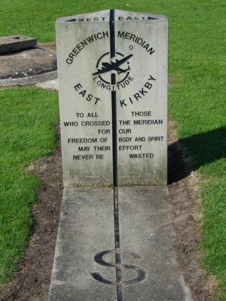 Greenwich Meridian at former RAF base East Kirkby
