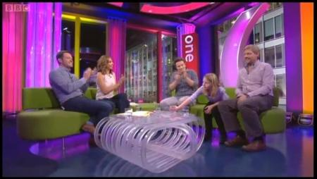 Martha and Jamie on the  One Show