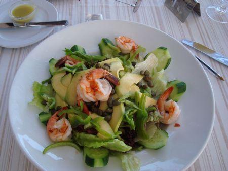 prawn and avocado salad ...