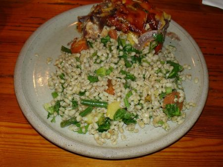 quiche and salad