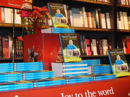 Neverseconds book launch, what every Waterstone's should look like