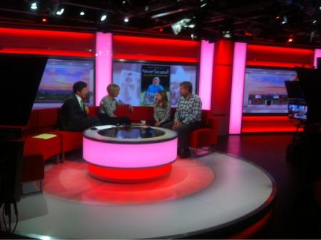 Thanks for a lovely interview Martha, here you are on our set. -- Louise Minchin, BBC Breakfast