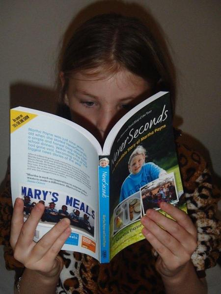 Martha reading NeverSeconds
