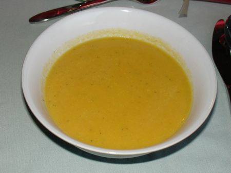 Christmas dinner: soup of the earth