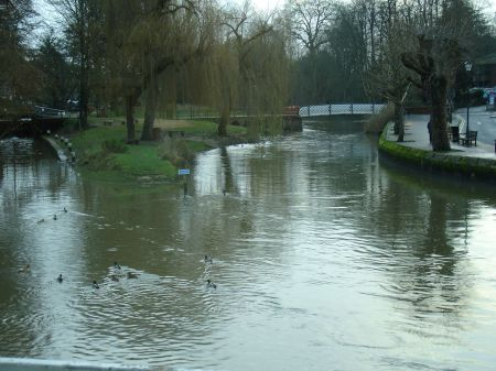 Debenhams restaurant overlooking River Wey