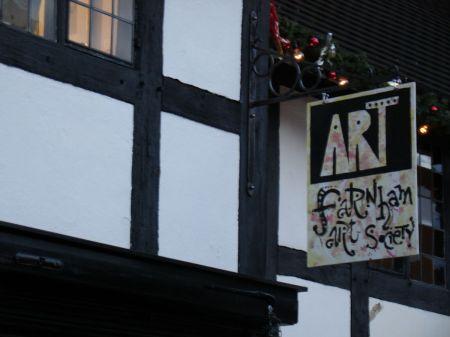 Farnham Art Society exhibition in Lion and Lamb Courtyard