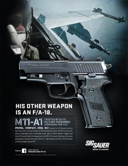 Sig Sauer violence second nature