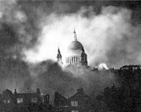 St Paul's surviving Blitz of WWII