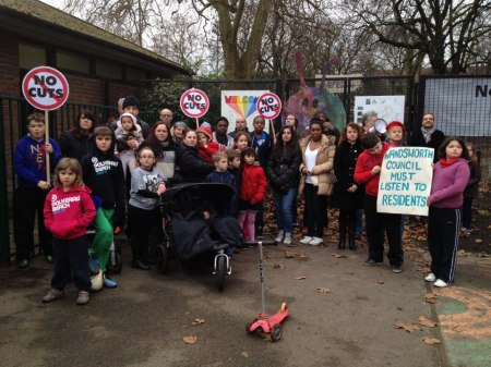Battersea Park Playground no to cuts