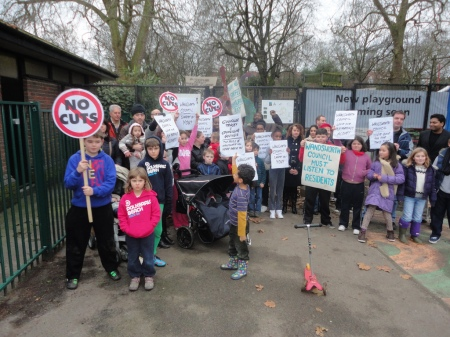 Battersea Park Playground  occupied
