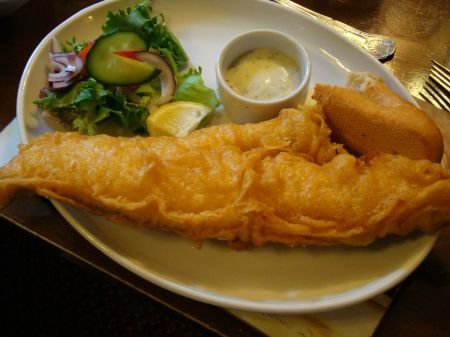 fried haddock in batter