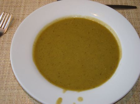 County Restaurant pea and mint soup