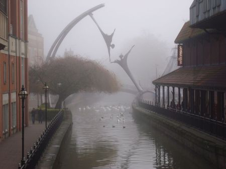 misty morning on the  River Witham