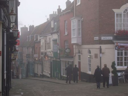 Steep Hill in the mist