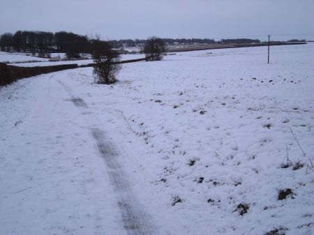 Cliff Lane covered in snow