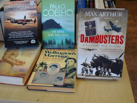 Dambusters on display in Oxfam Bookshop