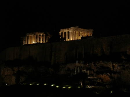 dining with a view of the Acropolis