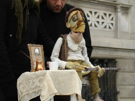 puppet playing guitar