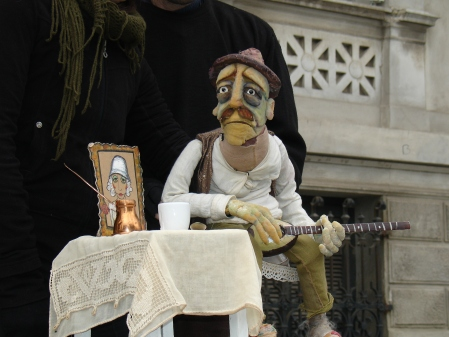 puppet with guitar