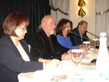 Paulo Coelho press conference in Athens