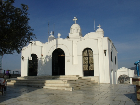 church atop Lycabettus Hill