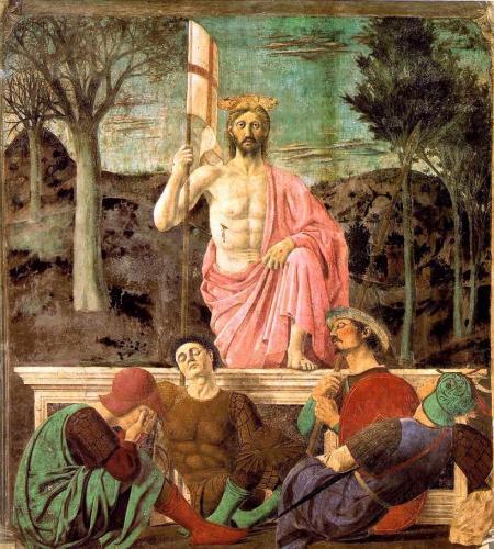 """Francesca, Piero Della - Resurrection - Renaissance (Early Italian, """"Quattrocento"""") - New Testament - Fresco"""