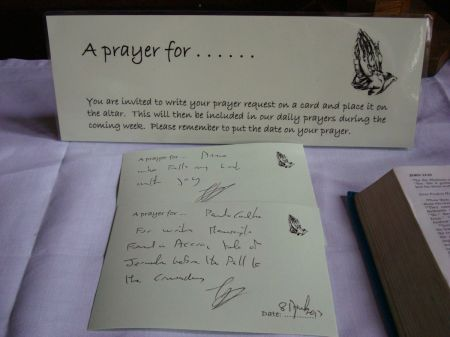 prayer cards writ for Paulo and Annie